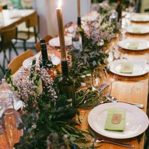 Bruiloft wintersetting